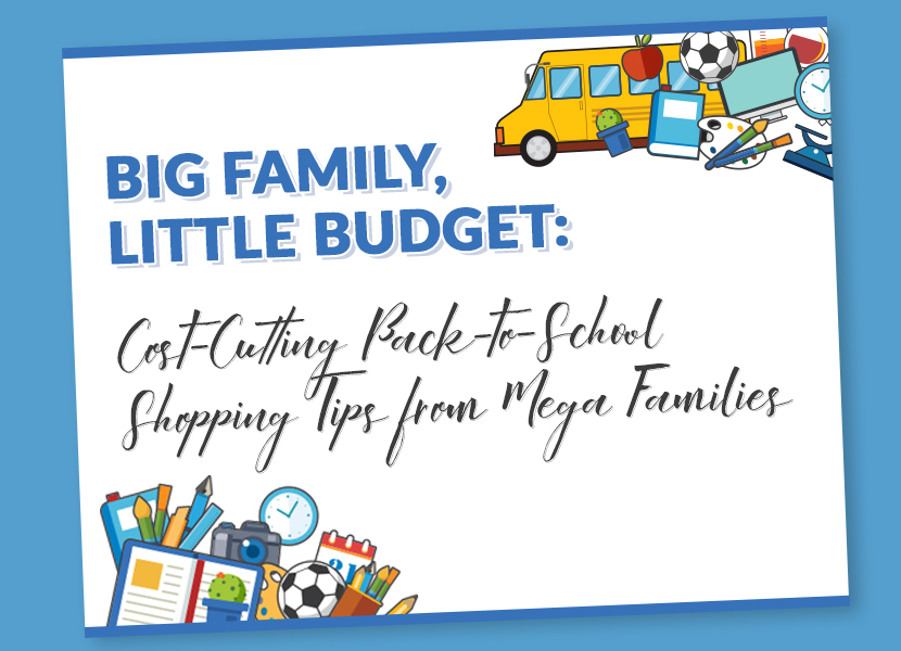 big family little budget - back to school shopping tips