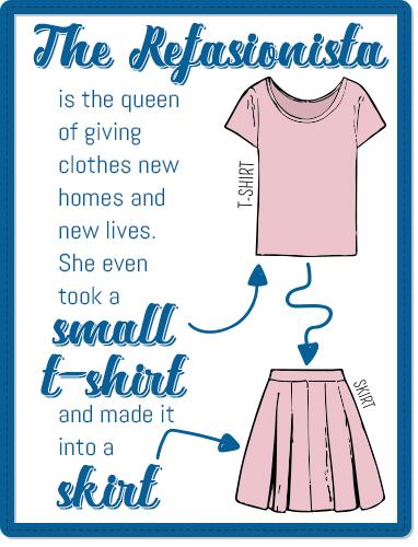 shirt into skirt infographic