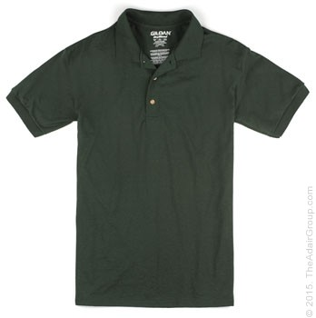Forest Green| Adult Jersey Knit Polo