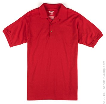 Red| Adult Jersey Knit Polo