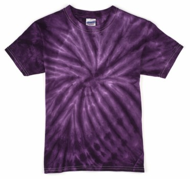 purple spider kids tie dye t shirt the adair group. Black Bedroom Furniture Sets. Home Design Ideas