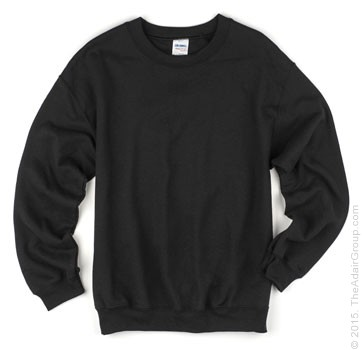 Black Crewneck Sweatshirts for Adults | The Adair Group