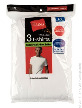 White| Adult Undershirts