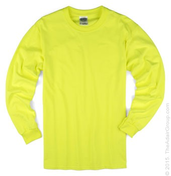 Safety Green| Adult Long Sleeve T