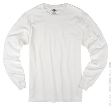 White| Adult Long Sleeve T