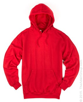 Red| Adult Pullover Hood