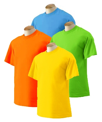 Adult T-Shirt  - Bright Colors