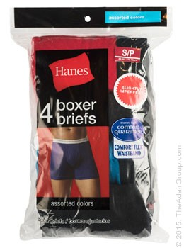 Assorted Colors| Adult Boxer Briefs