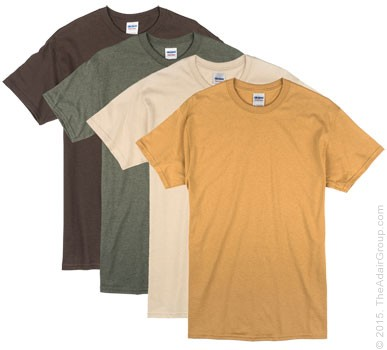 earth tone adult t shirts the adair group
