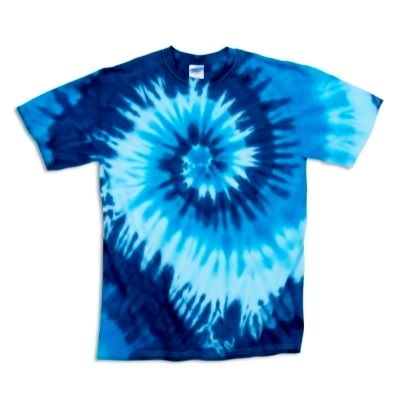 Adult Tie Dye T-Shirt (Blue Ocean)