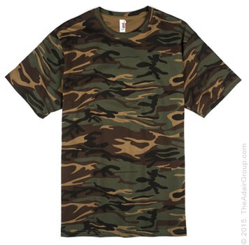 Camouflage green adult t shirt the adair group for Gildan camouflage t shirts