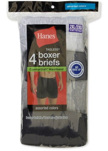 Hanes Adult Boxer Briefs-Asst Colors