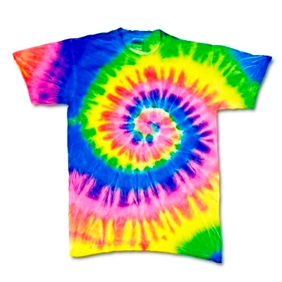 Adult Tie Dye T-Shirt (Neon Rainbow)