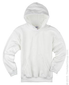 White Pullover Hood for Kids