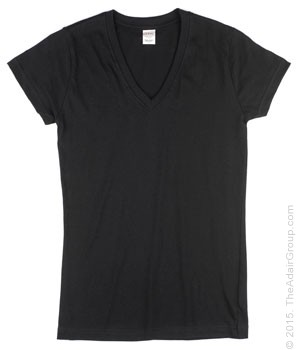 Black Fitted V-Neck| Womens T-Shirt