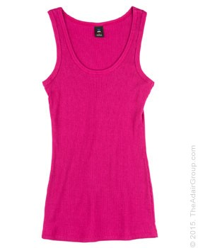 Fuschia| Womens Rib Tank Top