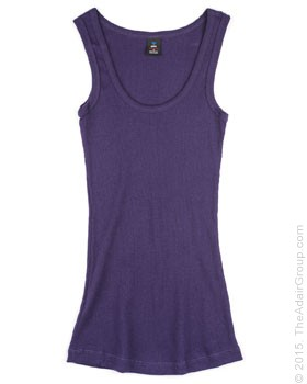 Purple| Womens Rib Tank Top