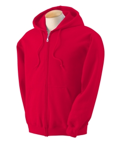 Adult Zipper Hood - Red