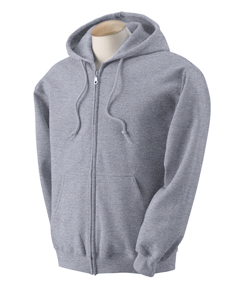 Adult Zipper Hood - Heather Grey