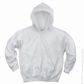 White| Adult Pullover Hood