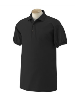 Adult Jersey Knit Polo Shirt (Black)