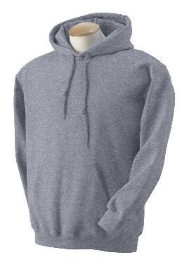 Adult Pullover Hood - Heather Grey