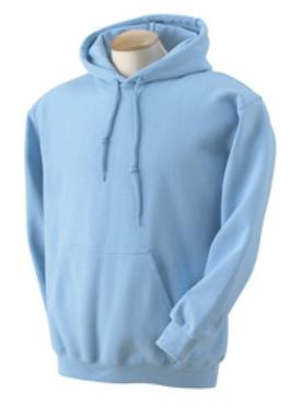 Adult Pullover Hood - Light Blue