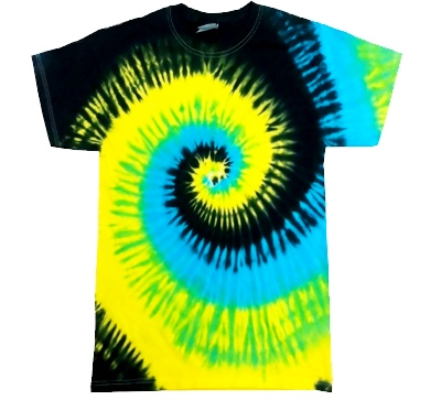 Adult Tie Dye T-Shirt (Island Breeze)