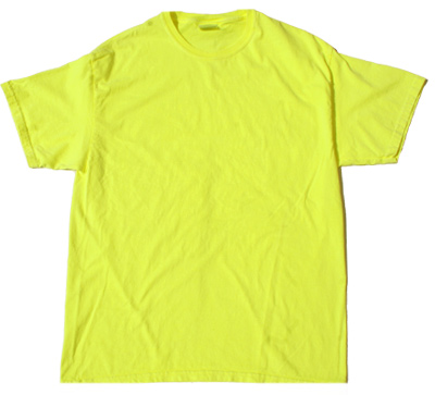 Neon Pigment Dye T-Shirt - (Yellow)