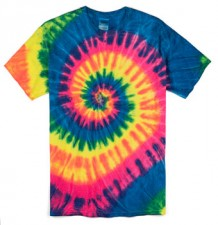 Neon Rainbow| Adult Tie Dye T-Shirt