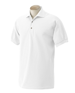 Adult Jersey Knit Polo Shirt (White)