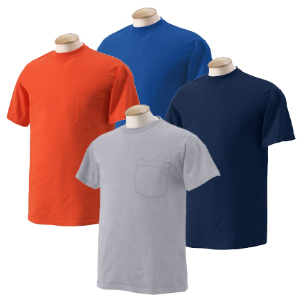 Pocket T-Shirt (Asst Colors)