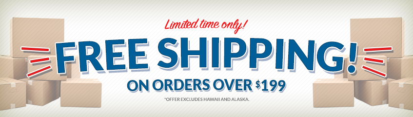 Free Shipping on all orders $199 and above for a limited time! | Shop Now!