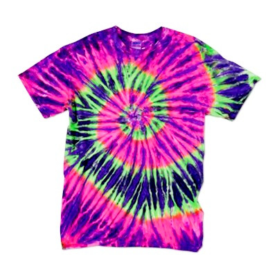 Adult Tie Dye T-Shirt (Watermelon Ripple)