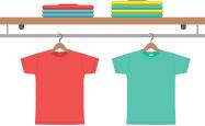 mini t-shirt divider graphic