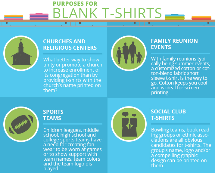 purposes for blank t-shirts infographic