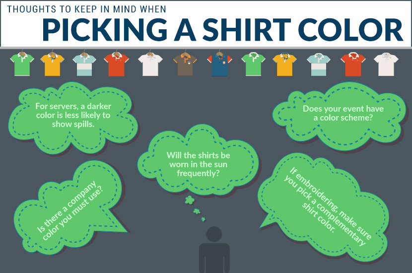 picking shirt color infographic