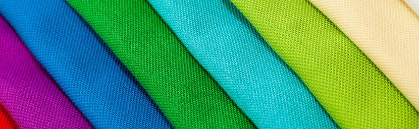 macro shot of colorful shirt material