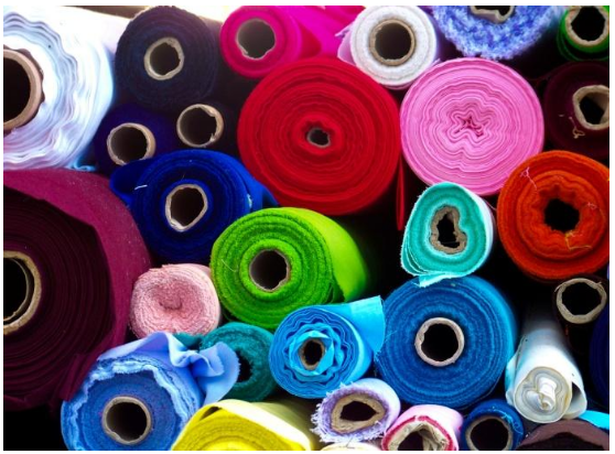 spools of colorful soft material