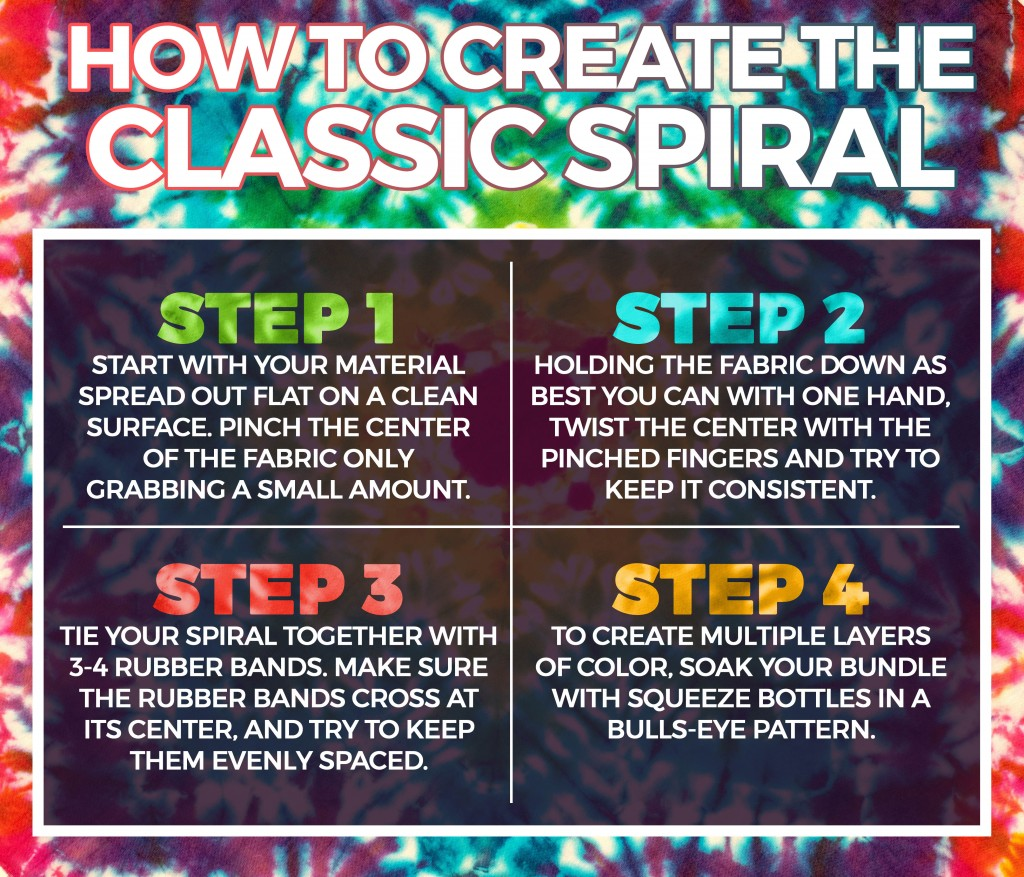 HOW TO CREATE THE CLASSIC SPIRAL