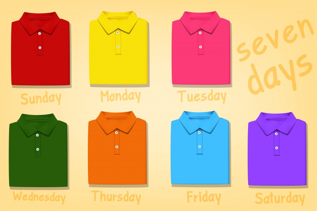 Multiple color polo shirts