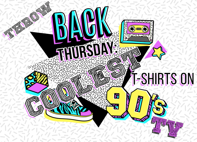 Throwback Thursday Coolest T-Shirts on '90s TV