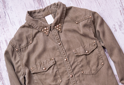 collared shirt rivets