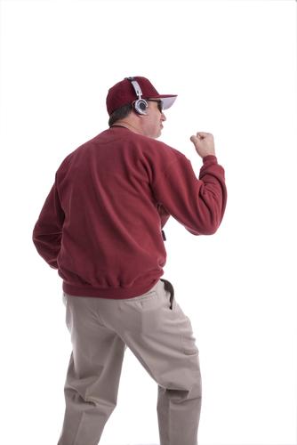 crew neck sweatshirt won by college coach