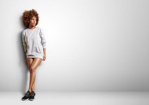 woman in blank sweatshirt