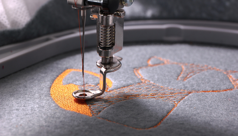 embroidery machine fox detail