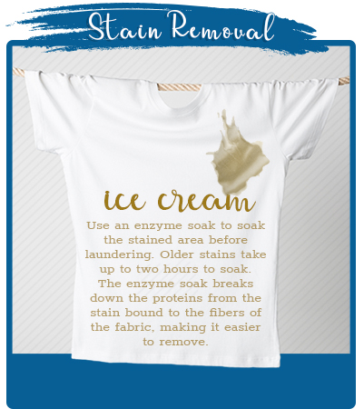 Ice Cream Stain Removal