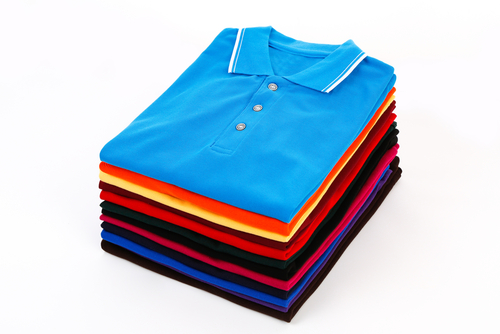 stack of discount t shirts isolated