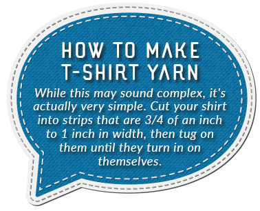 how to t shirt yarn