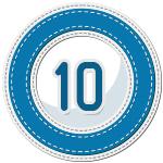 stitched number divider 10